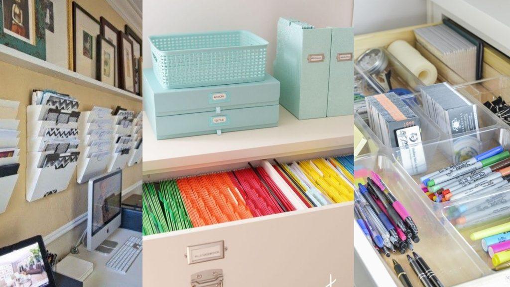 A organização é essencial para manter um ambiente home office produtivo.
