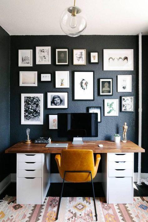 Os quadros e pôsteres vão deixar o ambiente do home office a sua cara.