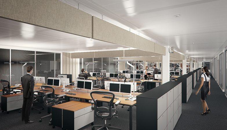 Os espaços compartilhados favorecem a comunicação e o trabalho em equipe entre os colaboradores.