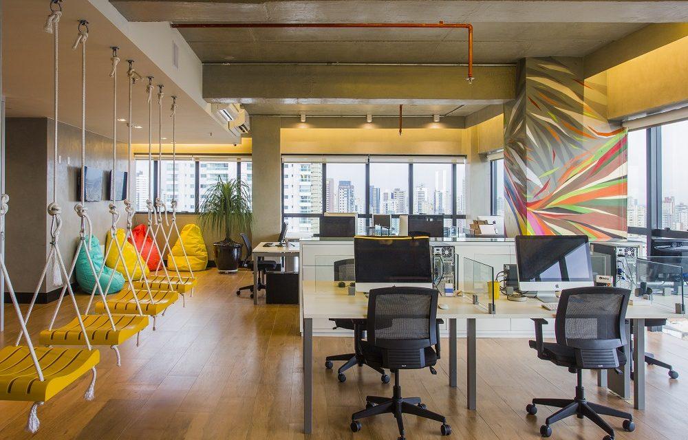 As cores influenciam toda a arquitetura corporativa, bem como seus colaboradores