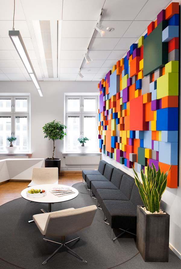 Arquitetura corporativa feita com cores e vida